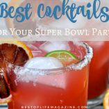Paired with great food, these game day and Super Bowl party drinks and recipes will keep your party festive for everyone.