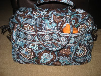 Vera Bradley Weekender Review In Java Blue Print Oc Mentor
