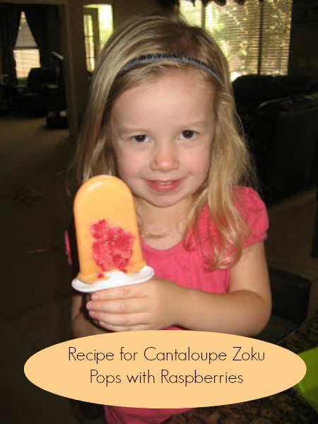 Cantaloupe Zoku Pops Recipe makes Healthy Snacks a Breeze