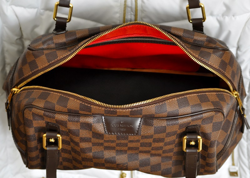 127b8861494b The Louis Vuitton Rivington GM in Damier Ebene has unique features and is  actually a Louis