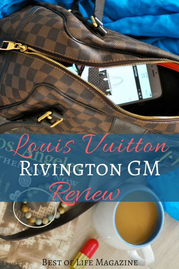 The Louis Vuitton Rivington GM in Damier Ebene has unique features and is actually a Louis handbag that is not seen as often making it even more special. via @amybarseghian
