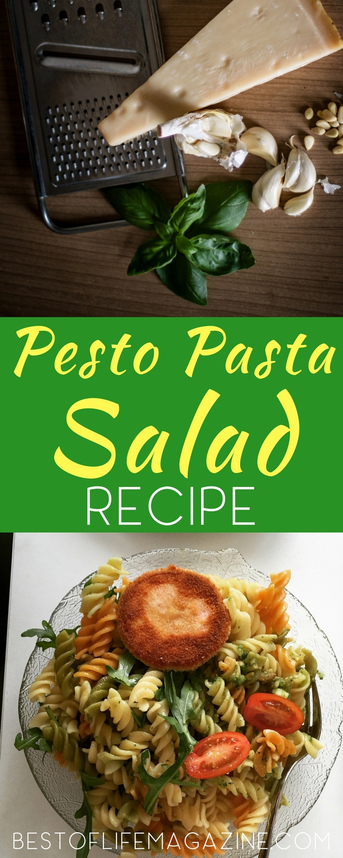 When it comes to entertaining, having the best recipes is important and a good place to start is with an easy basil pesto pasta that can serve everyone. Recipes for Parties | Family Recipes| Pesto Recipes | Best Pasta Recipes | Easy Pasta Recipes #recipes #salad