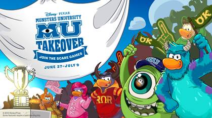 Club Penguin Game Meets #MonstersU
