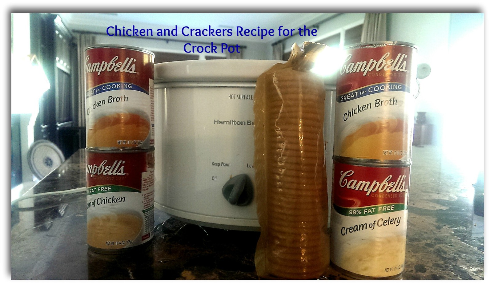 Shredded Chicken and Crackers Recipe for the Crock Pot