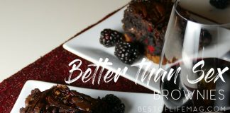 With a touch of sophistication and a dash of sass, these better than sex brownies have personality and take dessert to a whole new level. Dessert Recipes | Best Dessert Recipes | Recipes with Chocolate | Party Recipes | Recipes for Couples | Date Night Recipes | Better than Sex Dessert Recipes | Better than Sex Cake
