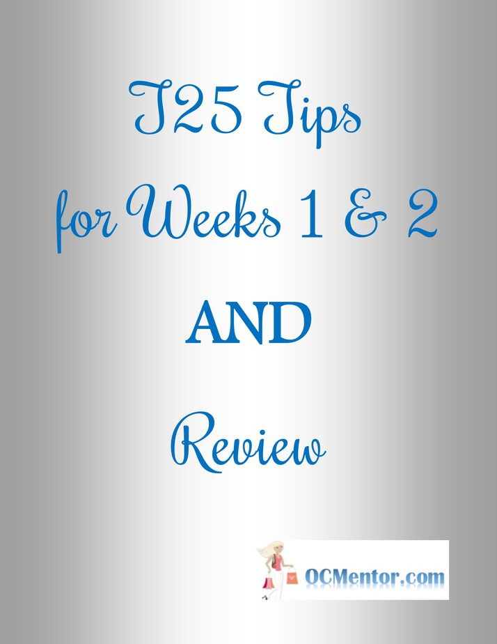 Focus T25 Review and Tips for Weeks 1 and 2