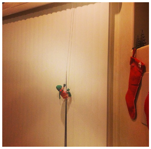 Elf on the Shelf repelling - My Crazy Good Life - Looking for a few fun Elf on the Shelf ideas for the holiday season? These funny elf idea will keep everyone in the family happy!