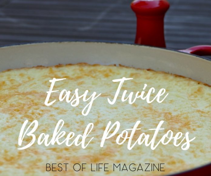 This easy twice baked potatoes recipe is the most requested recipe in our home, especially during the holidays!  It's a quick recipe that everyone loves! Mashed Potatoes Recipe | Twice Baked Potatoes Like Pioneer Woman | Potatoes Recipes | Potatoes in Oven | Thanksgiving Recipes | Holiday Recipes | Fall Recipes