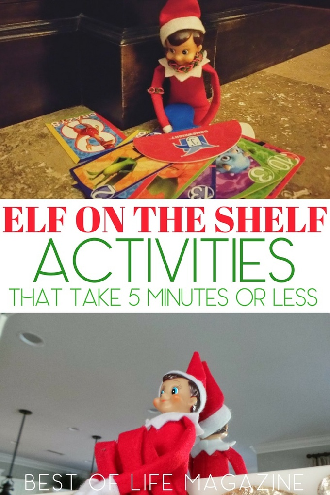 Looking for a few fun and easy Elf on the Shelf activities for the holiday season straight from the North Pole? These Easy Elf on the Shelf ideas will work. Elf on a Shelf | Quick Elf on the Shelf Ideas | What to Do with Elf on a Shelf | Easy Elf on the Shelf Ideas | Funny Elf on the Shelf Ideas | North Pole Elf on the Shelf Ideas | Christmas Tradition Ideas | New Christmas Traditions #elfonashelf #christmas
