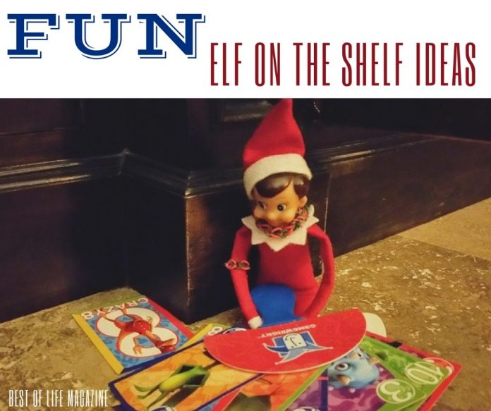 Looking for a few fun Elf on the Shelf activities for the holiday season?   These funny elf ideas take less than five minutes to stage! Elf on a Shelf | Quick Elf on the Shelf Ideas | What to Do with Elf on a Shelf |