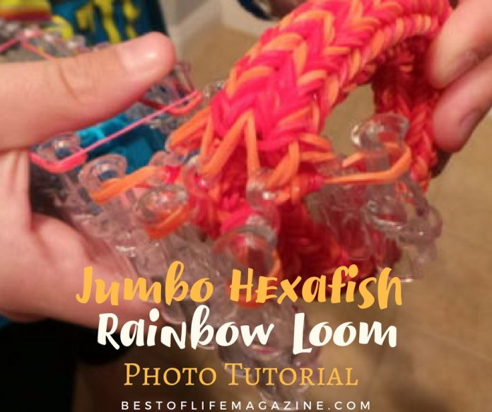 Jumbo Hexafish Rainbow Loom Photo Tutorial