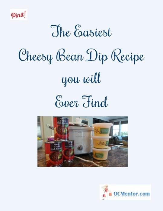 Super Easy Cheesy Black Bean Dip Recipe for the Crock Pot #Recipe