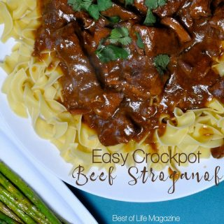 Enjoy this easy beef stroganoff crockpot recipe for a weeknight meal or with guests. The golden mushroom soup adds flavor and it has only SIX ingredients. How to Make Beef Stroganoff | What is Stroganoff | How to Make Beef Stroganoff in a Crockpot | Crockpot Recipes | Slow Cooker Recipes