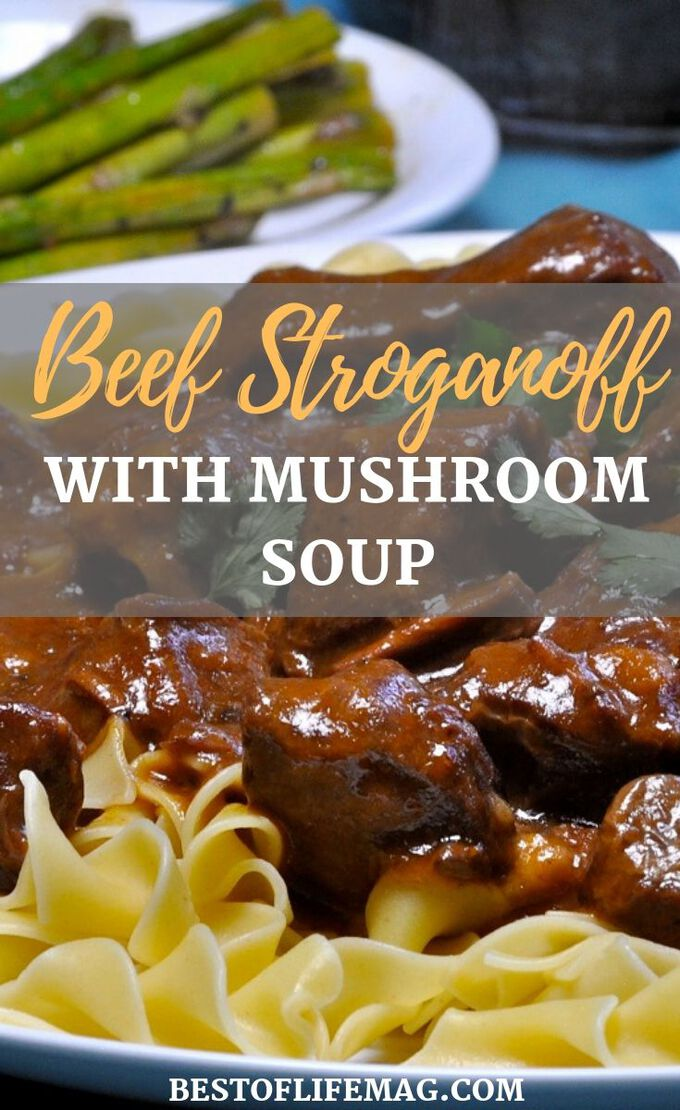 Enjoy this easy beef stroganoff crockpot recipe for a weeknight meal or with guests. The golden mushroom soup adds flavor and it has only SIX ingredients. Stroganoff Recipes | Beef Stroganoff Recipes | Slow Cooker Stroganoff | Crockpot Stroganoff | Slow Cooker Recipes | Crockpot Recipes #crockpot #recipes