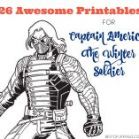 Captain America: The Winter Soldier opens on April 4th and we have 26 awesome activity sheets to go along with the movie...or any Captain America fan!