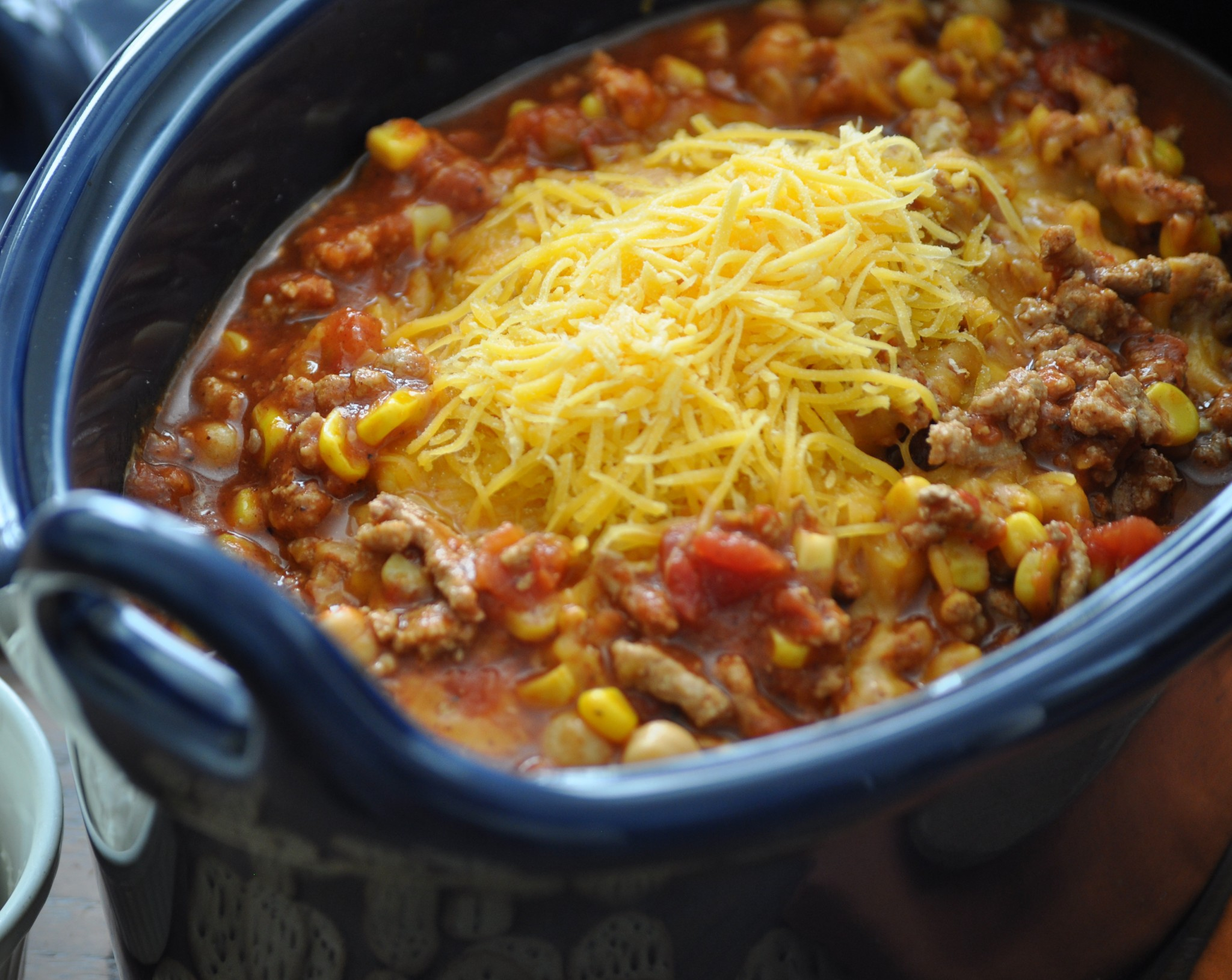 This turkey chili crockpot recipe is easy to make, perfect for gatherings, and very delicious.