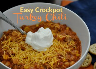 This turkey chili crockpot recipe can also be made on the stove top as well making it a versatile and easy meal to prepare for your family or gatherings.