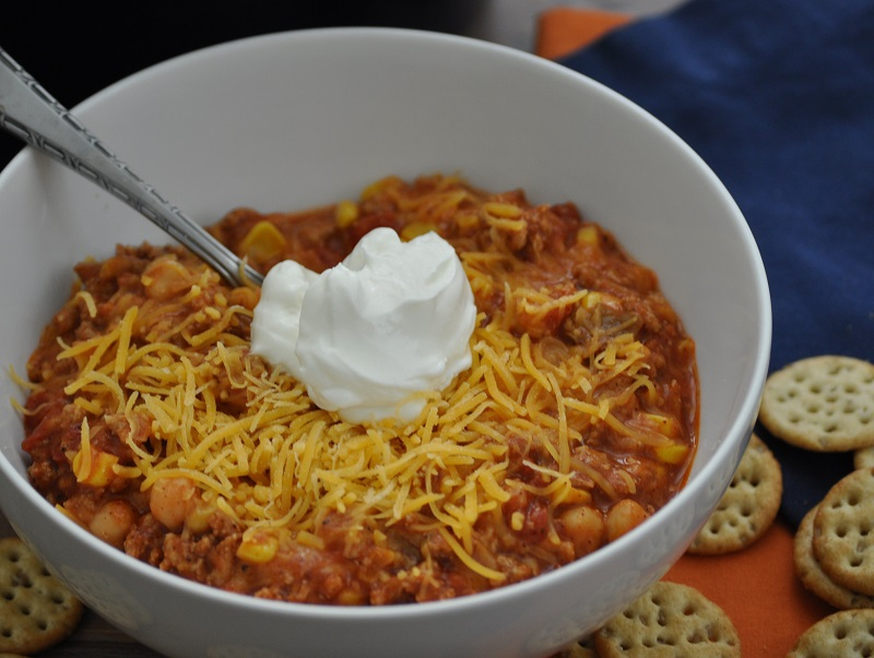 This turkey chili crockpot recipe can also be made on the stove top well making it a versatile and easy meal to prepare for your family or gatherings. Crockpot Recipes | Slow Cooker Recipes | Crockpot Chili Recipes | Slow Cooker Chili Recipe | Healthy Chili Recipe
