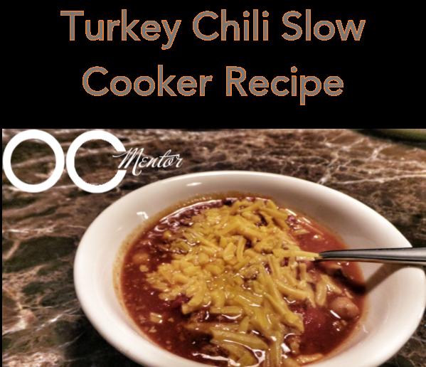 Turkey Chili Slow Cooker Recipe