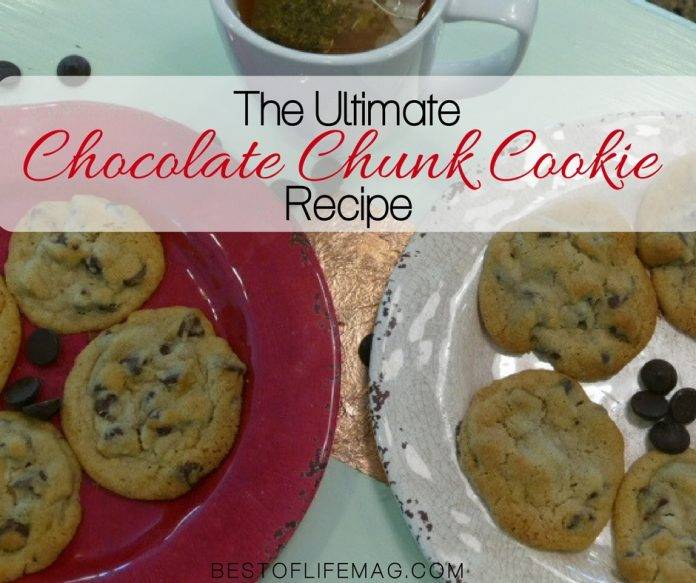 This chocolate chunk cookie recipe can also be made with chocolate chips if you are out of chunks and is a great recipe to make with the kids! Cookie Recipes | Chocolate Recipes | Best Chocolate Chip Cookie Recipes | Cookie Recipes for Kids