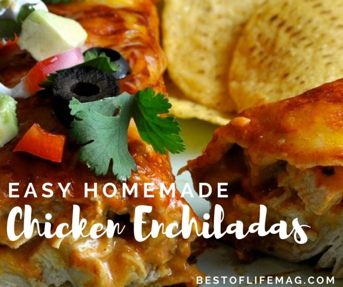 easy chicken enchiladas recipe flour tortillas
