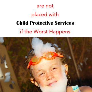 Did you know your children could be placed with Child Protective Services if you don't have the proper paperwork in place? Can you imagine the sadness...