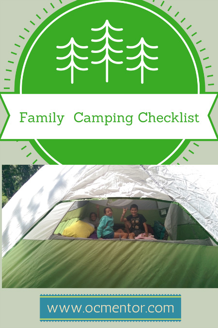 Camping can be a daunting task for an inexperienced family - enjoy this camping checklist and tips to help you and your family.