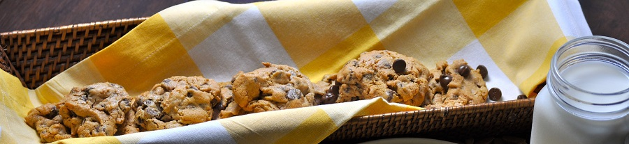 Gather friends and family to enjoy these flourless peanut butter cookies with chocolate chips!