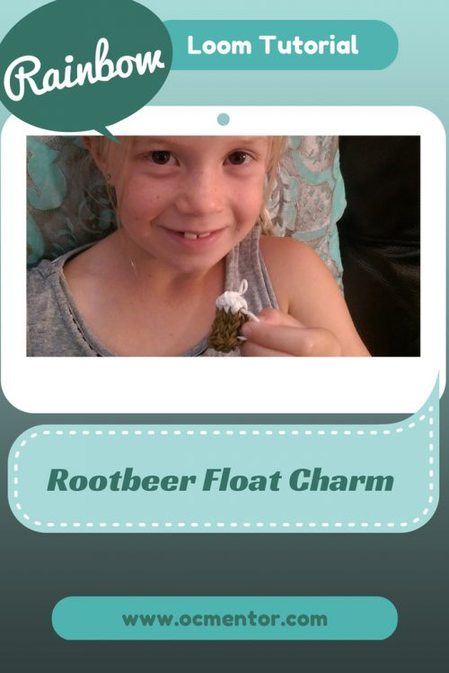 Rootbeer Float Rainbow Loom Charm Tutorial OCMentor
