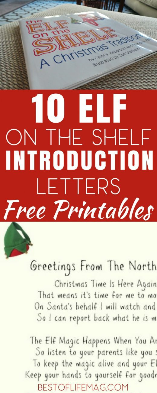 It is never too late to introduce Elf on the Shelf in your home and these Elf on the Shelf introduction letters will help make it memorable for your family. Introduction Letters for Elf on the Shelf | Elf on the Shelf Toddler Introduction | Elf on the Shelf Intro |  Elf on the Shelf Ideas | Elf on the Shelf Printables | Printable Holiday Activities #elfontheshelf #printables