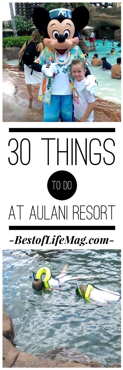 With this list of 30 things to do at Aulani Resort, kids and adults have plenty to do! via @amybarseghian