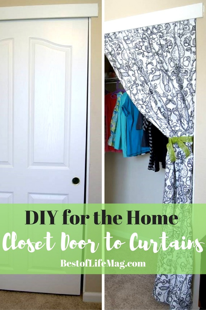 This DIY Closet Doors to Curtains transformation will give any room in your home an instant facelift!
