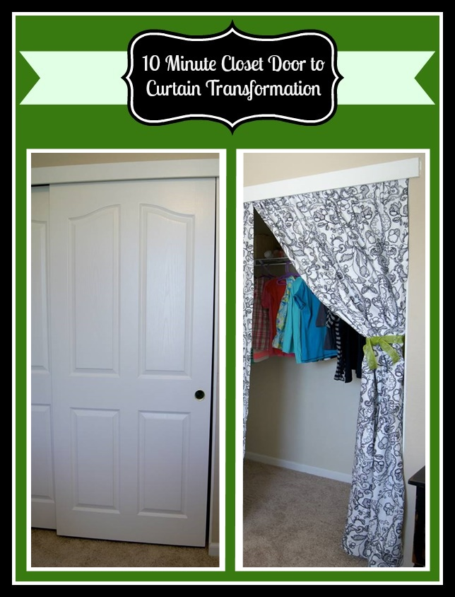 10 minute diy closet doors to curtain project the best of life this 10 minute closet door to curtain transformation will give any room a beautiful facelift solutioingenieria Gallery