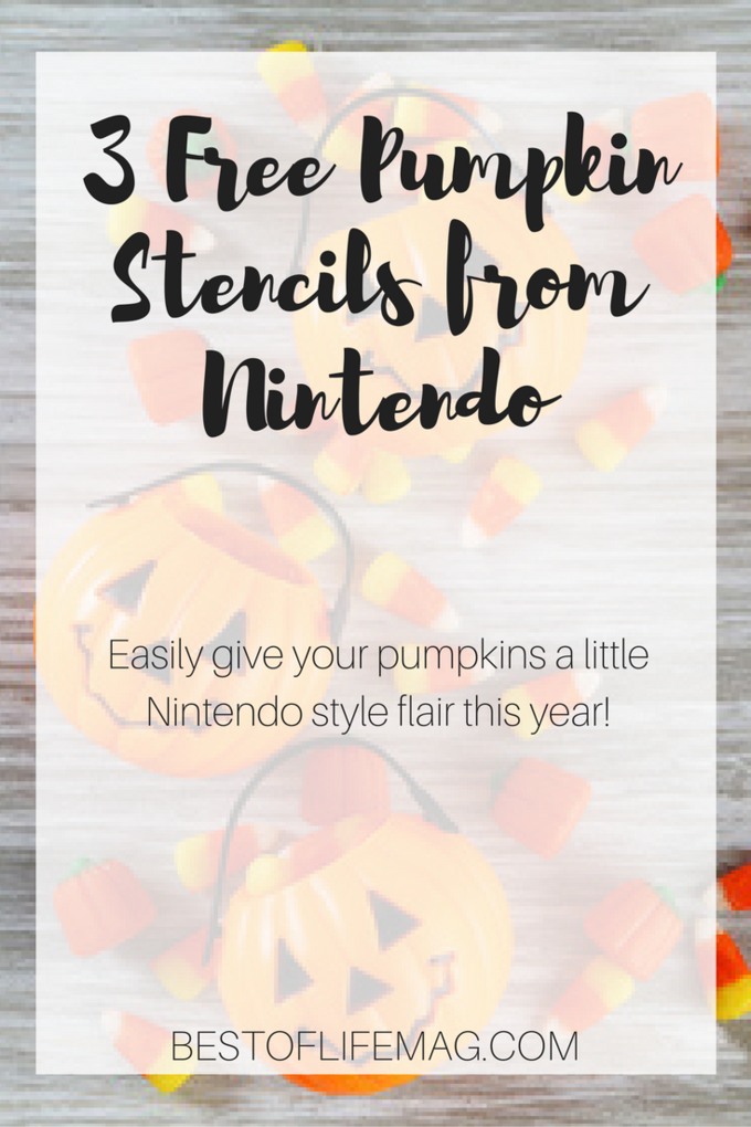 Bring Super Mario Bros. to your Halloween with these free pumpkin stencils from Nintendo. Simply print, tape, carve. Happy Halloween! Free Stencils for Pumpkins | Printable Stencils | Nintendo Printables | Halloween Printables | Pumpkin Carving for Young Kids via @amybarseghian