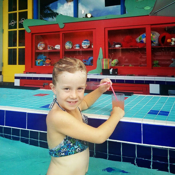 Ava at the Swim up Bar at Beaches Resorts Turks and Caicos