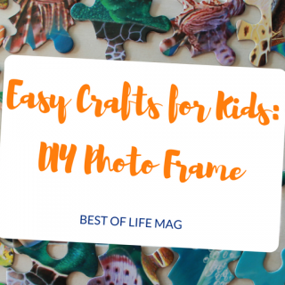 This DIY Photo Frame is a great way to spend some quality time with your kids. Easy crafts for kids are a great way to promote quite time and calm!