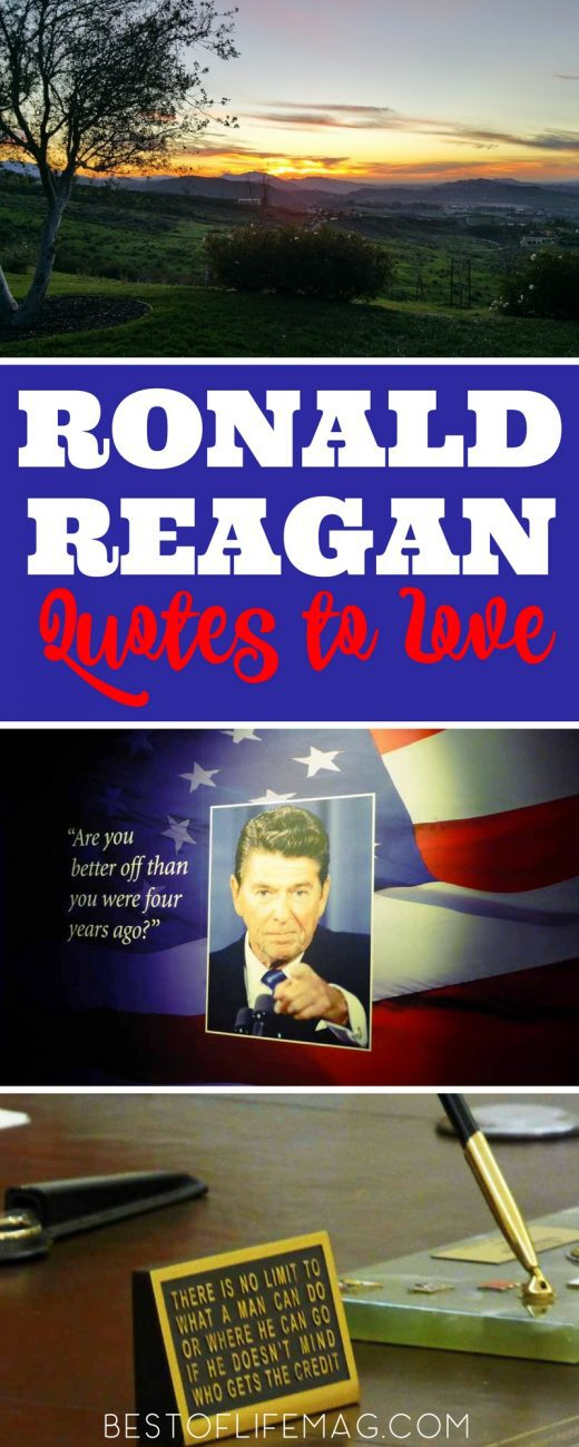 Ronald Reagan Quotes To Live By From His Presidential Library Best New Ronald Reagan Love Quotes