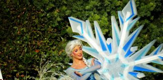 Frozen During the Holidays at Disneyland