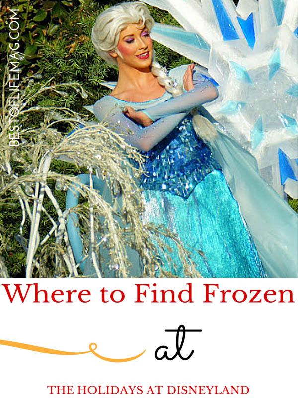 Where to find Frozen During the Holildays at Disneyland