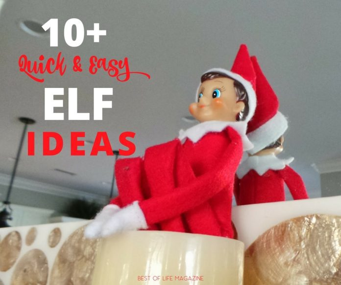 Easy Elf on The Shelf ideas keep kids excited and are perfect for those mornings when elf helpers are short on time. Elf on the Shelf Easy | Easy Elf Ideas | Quick Elf Ideas | Elf on the Shelf Ideas No Time