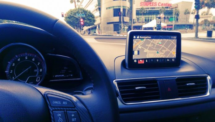 In Dash Navigation on 2015 Mazda Cars