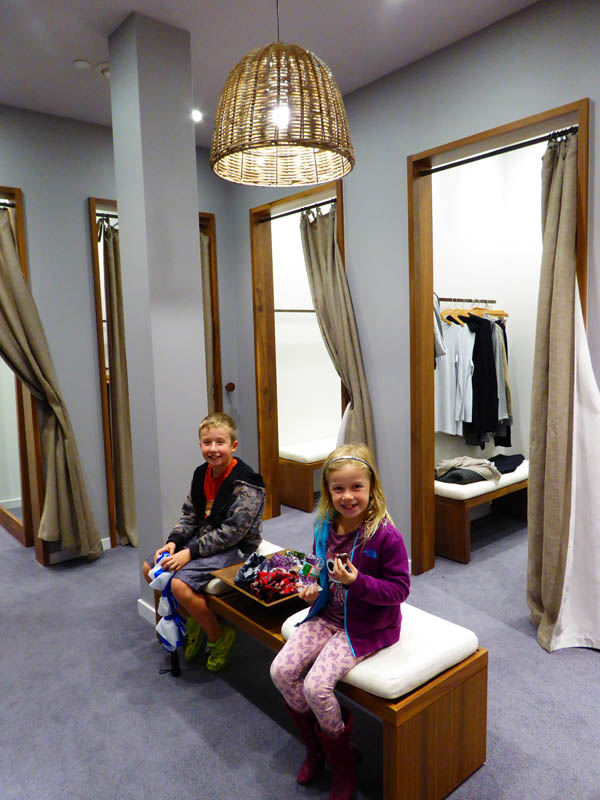 J Jill Dressing Rooms are Great for Shopping with Kids