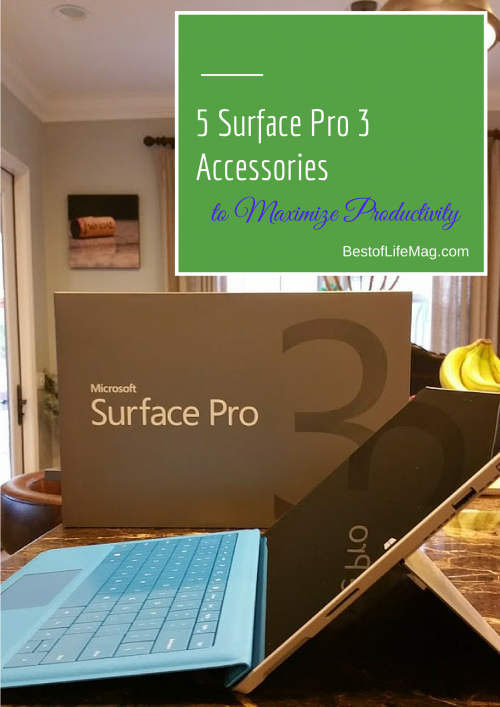 5 Surface Pro 3 Accessories to Maximize Productivity