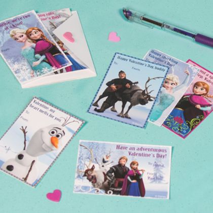 In an attempt to help check your child's cards for class off your list, we have these FREE Disney printables Valentine's Day cards!