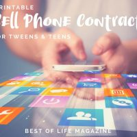 Printable Cell Phone Contract for Tweens and Teens
