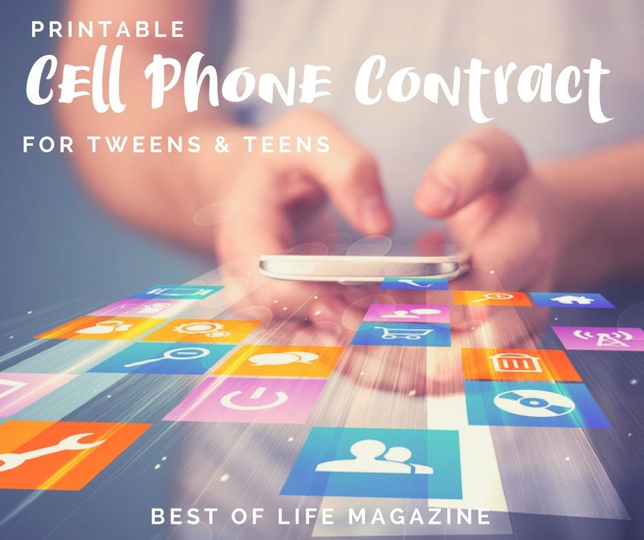 photo about Printable Cell Phone Contract for Tweens identified as Printable Mobile Cell phone Deal for Tweens and Youngsters - Least difficult of