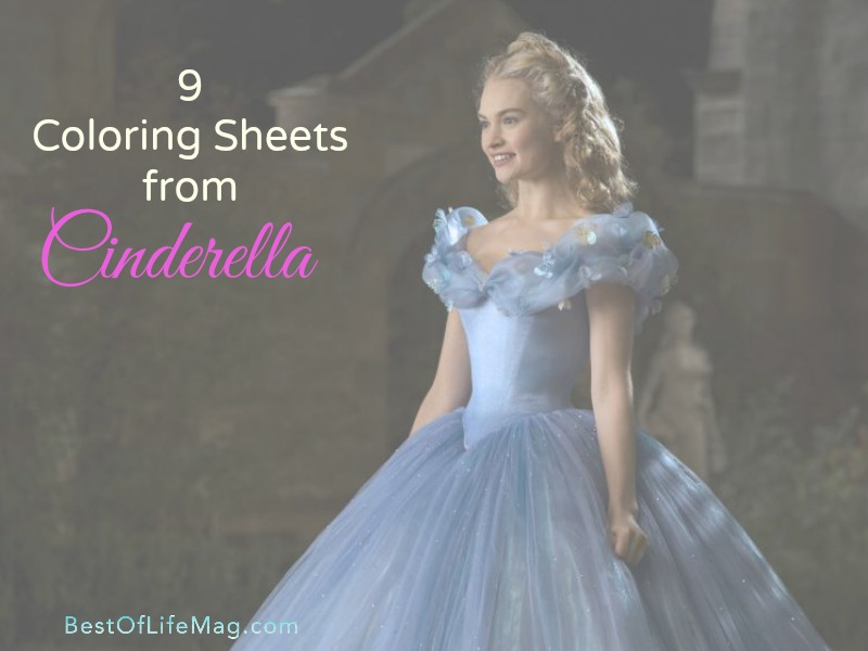 9 Coloring Sheets From Cinderella Movie