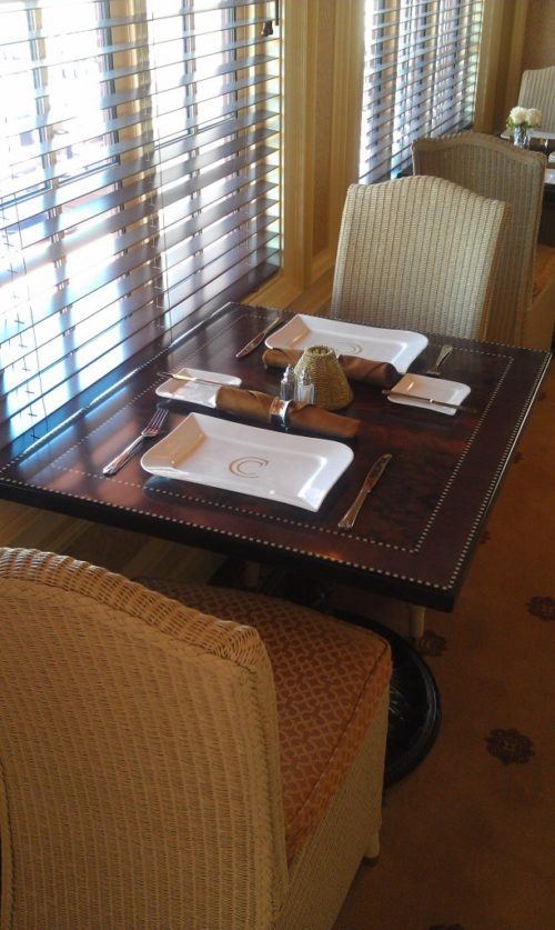 Carthay Circle Restaurant table