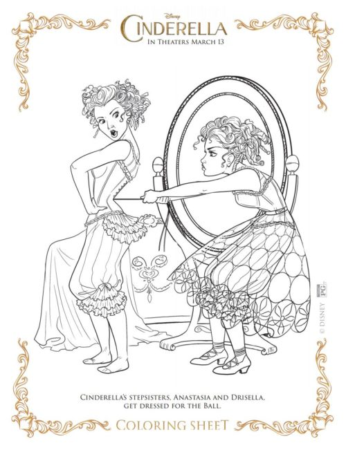 9 Cinderella Movie Coloring Sheets