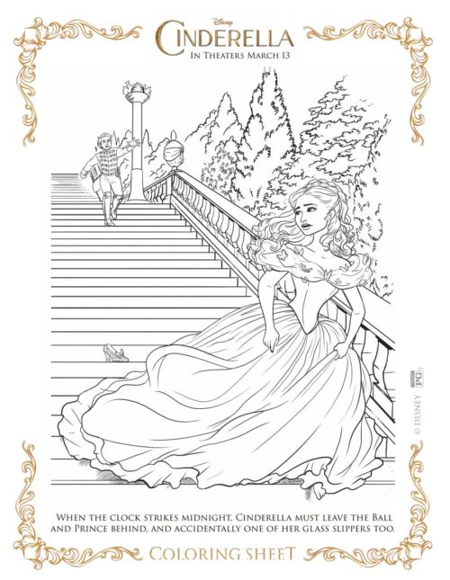 9 Cinderella Movie Coloring Sheets #Cinderella - The Best of Life ...